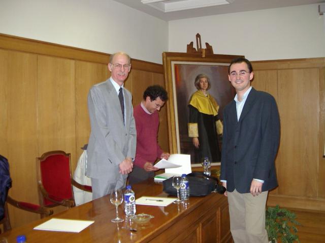 Larry Thibos and Sergio at Sergio Barbero's Ph D. Thesis Defense.  Universidad de Valladolid, Feb 2004