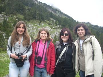 Sabine Kling, Susana Marcos, Maria Viñas and Lourdes Llorente at Engineering the Eye III, Benasque, Pyrenees, Spain