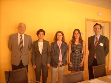 Sabine Kling's Master Thesis, Defense with committee members Prof. Santiago Mar, Dr. Carmen Perez, Dr. Miguel Maldonado, and Survisor Susana Marcos